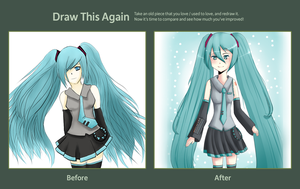Draw this Again Challenge - Miku by China-Girl-Doll