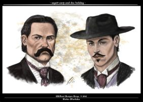 Wyatt Earp and Doc Holiday by randolfo