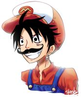 Mario Luffy by SlashTheMovie