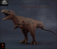JPW-Carcharodontosaurus( The African Killer) by Gabe-TKE