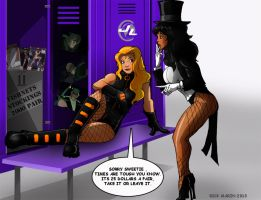 Black Canary and Zatanna by Misterho