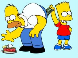 Bart got the mony by sempson