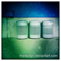 Three Little Bins by TheDevlyn