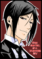 Valentines Day Card : Sebastian by Sorceress2000