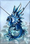 Dragon of the Silver ice forest by AlviaAlcedo