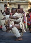 Dancers from Swaziland in Beaucaire. France by jennystokes