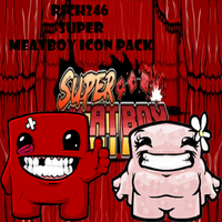 Super Meatboy Icon Pack by Rich246
