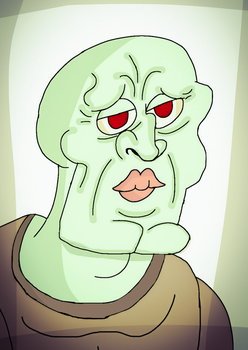 Handsome Squidward.  by 21WolfieProductions
