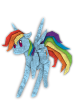 Rainbow Dash Cutout by KaoKay