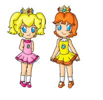 peach and daisy children by ninpeachlover