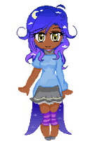 Moonlight girl pixel gif by redkubby