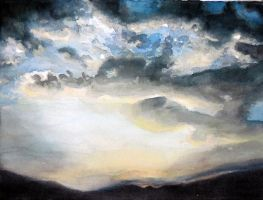 sunset on the valley by Ofride