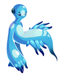 blue dragon nudibranch by oddsocket
