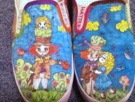AliceXMad Hatter Shoes by SprightlyVirgin