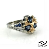 New Custom Zora Sapphire Ring by mooredesign13
