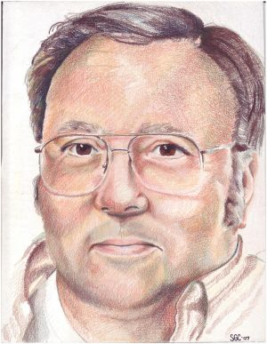 Colored Pencil portrait entitled, 'Dad'.