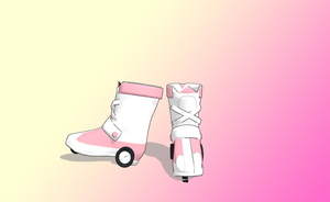 MMD pink skates by amiamy111