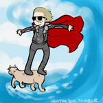 Thor Goat Surfing by geothebio