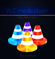 colorful vlc icons for dock by mustafahaydar