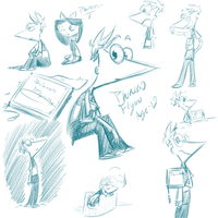 Phineas Sketches by kiki-kit