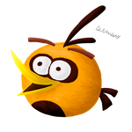 Angry orange bird by RiverKpocc