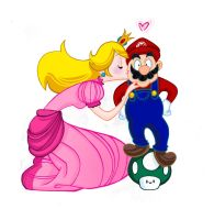 Peach and Mario by spicysteweddemon