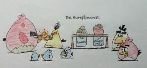 Angry Birds - Chuck vs. Terence (Eye-Staring) by AngryBirdsStuff