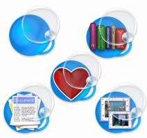 Aqua Bubble folder icons by elsie432