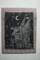 Gothic House Warming Moving Card by NightPhoenixArt