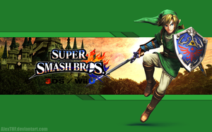 Link Wallpaper - Super Smash Bros. Wii U/3DS by AlexTHF