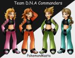 Team D.N.A. Commanders by PokemonMasta