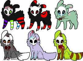 Skull Fuzzy Death Adoptables (2 Points Each) by DetritusDroid