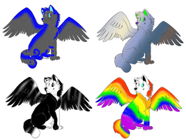 Winged Wolf Adoptables: CLOSED by Shade-Hero-Project-X