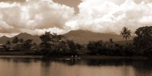 a small lake in sepia II by neogriff