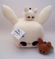 Tofu Rabbit Cube Plush by quacked