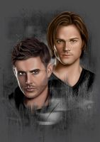 Sam and Dean by notadeviantanymore