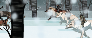 Dashing Through the Snow by Issora