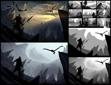 Painting Environment Concepts In No Time! by SoldatNordsken