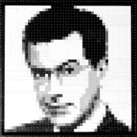 LEGO Stephen Colbert Mosaic by gloriouskyle