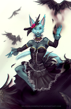 Queen of the crows + video ! by Silverbloodwolf98
