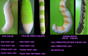 Tail Price List by Radioactimals