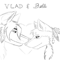 Vlad and Belle Sketch by WoofMewMew