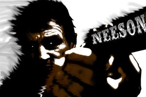Neeson by bloatedwhalecorpse