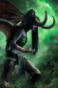 Illidan female cosplay by Knekht by Katfromrivia