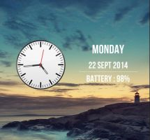 Lockscreen Clock Widget for xwidget by jimking