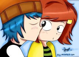 Corey and Laney Kiss by diligi