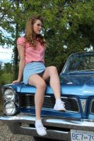 60's: When You Have A Car This Sexy, You Sit On It by ShaneAlice