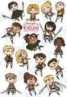 AoT stickers by Kauritsuo