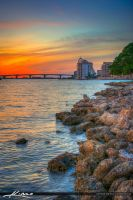 Sarasota-Bayfront-Park-Sunset-from-Island-Park by CaptainKimo