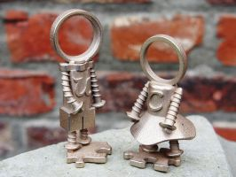 YOU and ME : bronze figurines by trompevenlo